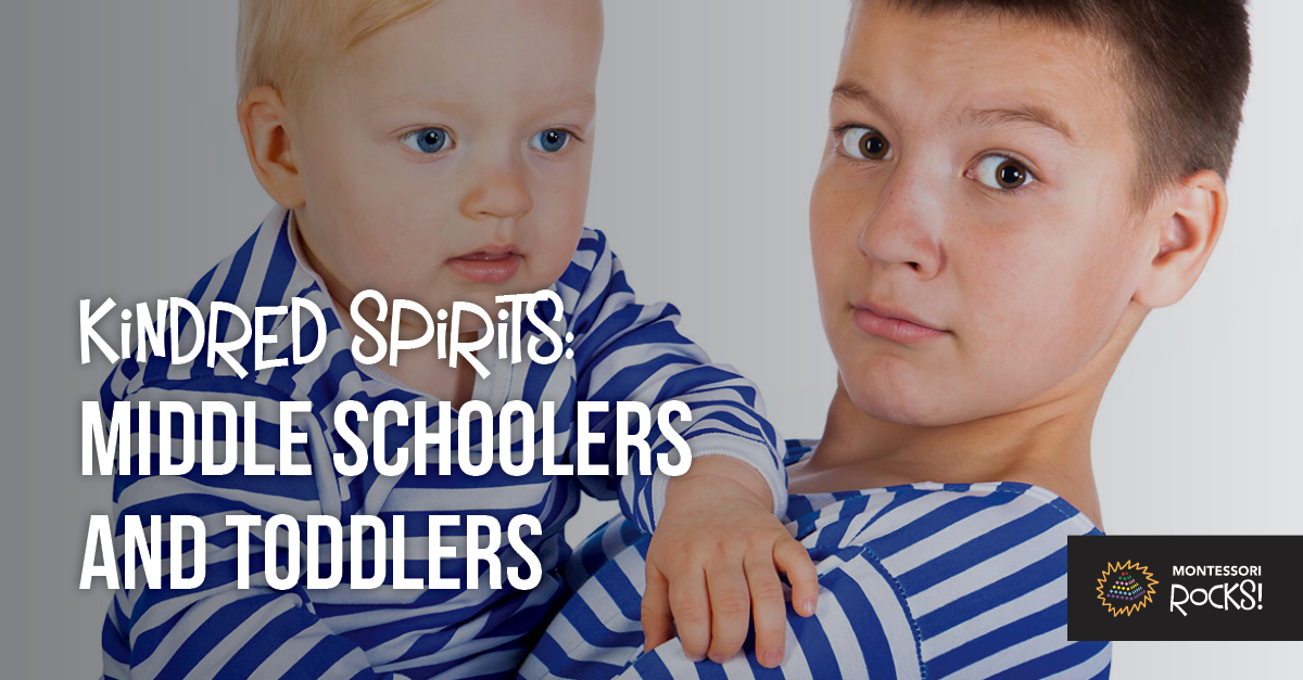 """Kindrid Spirits: Middle Schoolers and Toddlers"""