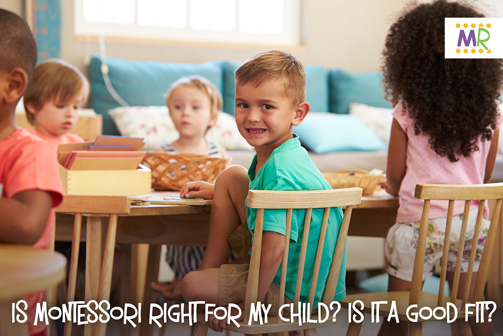 Is Montessori right for my child? Is it a good fit? - child smiling in classroom