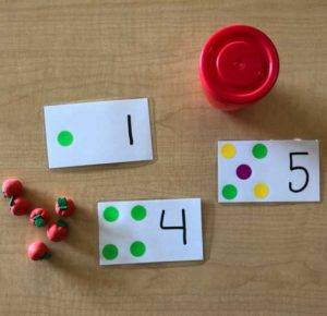 Montessori materials and flash cards